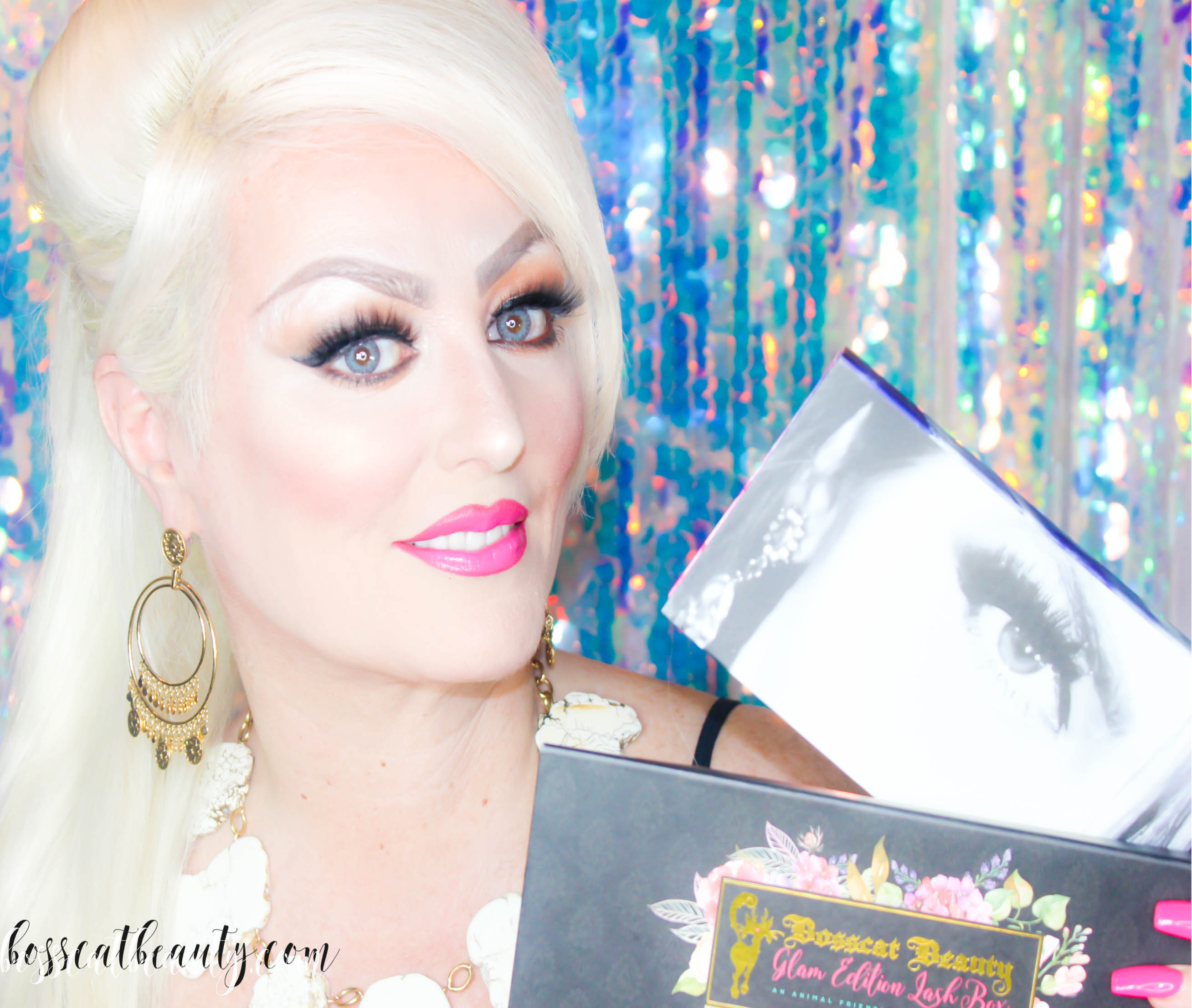 Bosscat Beauty, Luxor Living and Style, Glam Edition Lash Box, silk lashes, American lashes